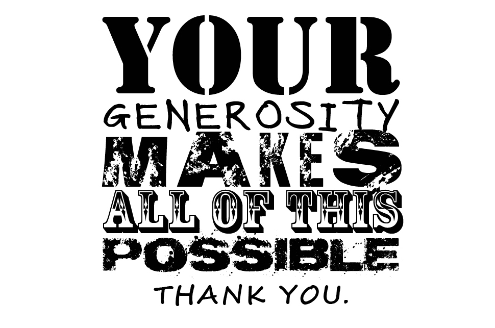 Image result for through your generous donations clipart